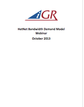 Recording of HetNet Bandwidth Demand Model Webinarpreview image