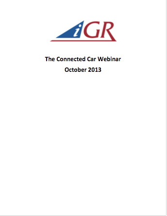 Recording of The Connected Car Webinarpreview image