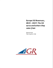 Europe 5G Revenues, 2019 - 2027: 5G euros and where they come frompreview image