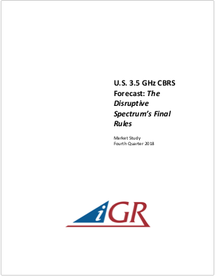 U.S. 3.5 GHz CBRS Forecast: The Disruptive Spectrum's Final Rulespreview image