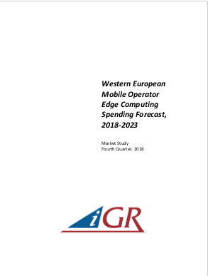 Western European Mobile Operator Edge Computing Spending Forecast, 2018-2023preview image