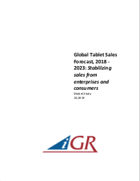 Global Tablet Sales Forecast, 2018-2023: Stabilizing sales from enterprises and consumerspreview image