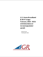 U.S. Home Broadband & WiFi Usage Forecast, 2018-2023preview image
