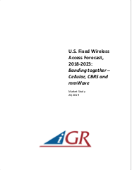 U.S. Fixed Wireless Access Forecast, 2018-2023: Banding together - Cellular, CBRS and mmWavepreview image