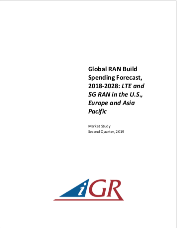 Global RAN Build Spending Forecast, 2018-2028: LTE and 5G RAN in the U.S., Europe and Asia Pacificpreview image
