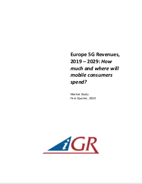 Europe 5G Revenues, 2019-2024: How much and where will mobile consumers spend?preview image